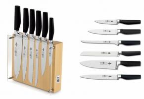 Набор ножей 6 предметов в деревянной подставке